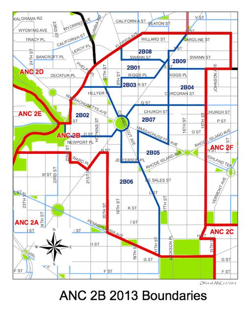 Map | Dupont Circle ANC 2B Dc Neighborhood Map on